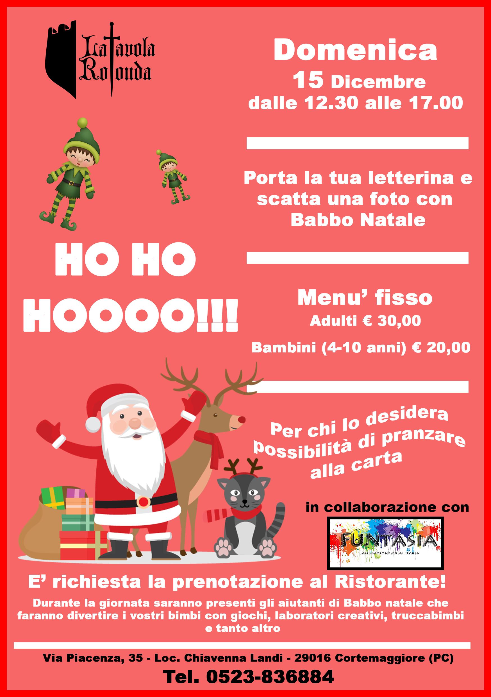 Babbo Natale a La Tavola Rotonda!! 15 Dicembre 2019